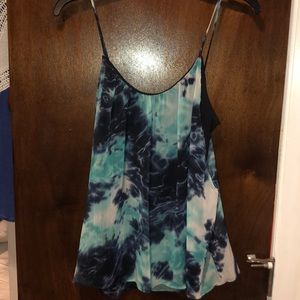 Turquoise and Navy Aqua Tank Top